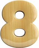 Wooden Number 8 - Eight