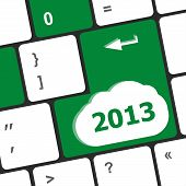 2013 New Year Keyboard Key Button Close-up