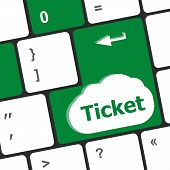 Buy Tickets Computer Keyboard Key