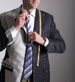 Semi-ready, elegant tailor made suit and man
