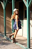 Cute Girl In A Short Dress