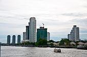 The View Of Chaopaya River In Bangkok