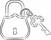 Lock and key