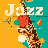 foto of sax  - Jazz night background - JPG