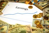 earnings rising growing