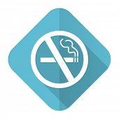 no smoking flat icon