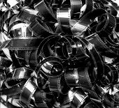 Unrolled Heap 35Mm Movie Filmstrip Carpet Vintage Black And White
