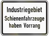 stock photo of railroad-sign  - German traffic sign additional panel to specify the meaning of other signs - JPG