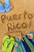 Puerto Rico Beach Writing