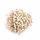 picture of peppercorns  - White peppercorns isolated on a white background - JPG