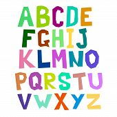 Multicolored alphabet