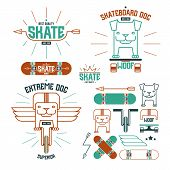 Skateboard Dog Emblems And Icons