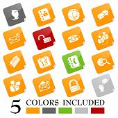 Social media & blog icons - sticky series