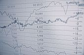stock photo of stock market data  - Stock charts  - JPG