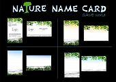 nature name card