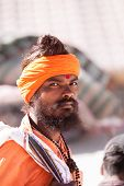A young sadhu