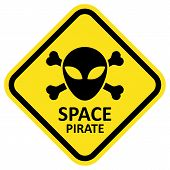 Vector sign space pirate.