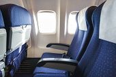 Seats In Economy Class Section Of Aircraft