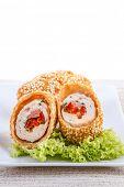 Stuffed chicken roll