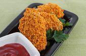image of chicken wings  - fried chicken wings - JPG