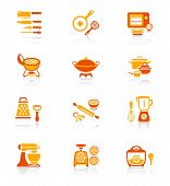 Modern professional utensils for cooking icon-set