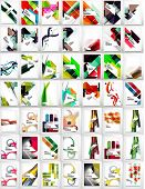 Collection of geometric shape abstract backgrounds - waves, angular and other