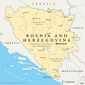 Bosnia And Herzegovina Political Map