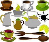 Cups And Teapots Color