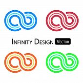 Set of colorful infinity symbol