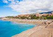 pic of canary-islands  - Picturesque El Duque beach in Costa Adeje - JPG