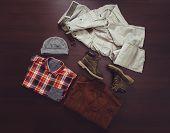 Set Of Fashionable Male Clothing