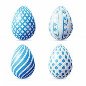 Isolated Easter eggs