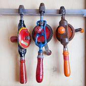 Three Old Fashioned Drills In Closet