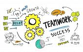 Teamwork Team Together Collaboration Group Unity Success Concept