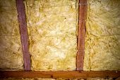 picture of glass-wool  - Thermal insulation material  - JPG
