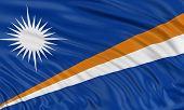 3D flag of Marshall Islands