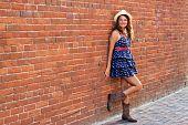 Happy Girl In A Brick Alley