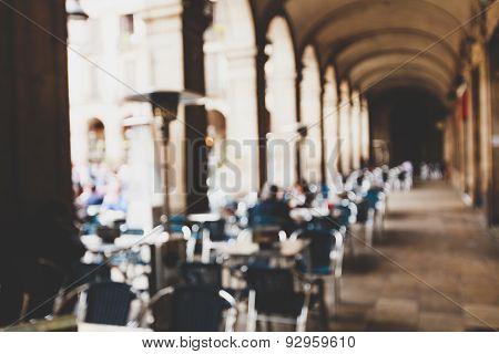 Street cafe in Barselona