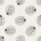 image of caterpillar cartoon  - Caterpillar Doodle - JPG