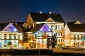 stock photo of trinity  - Night Scene Trinity Hill In Minsk - JPG