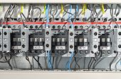 picture of contactor  - Electrical panel at a assembly line factory - JPG