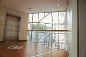 picture of reception-area  - Foyer area with elevator and large window - JPG