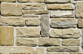pic of tile cladding  - New stone cladding plates on the wall closeup - JPG