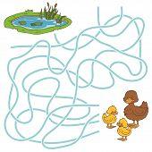 stock photo of ponds  - Game for children - JPG