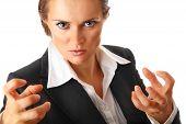 angry modern business woman