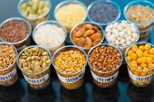 stock photo of legume  - agricultural grains and legumes in the laboratory - JPG