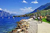 image of lagos  - Lago di Garda activities beautiful lake in north of Italy - JPG