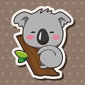 foto of koala  - Animal Koala Cartoon Theme Elements - JPG