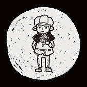 stock photo of private detective  - Detective Doodle - JPG