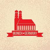 pic of bavaria  - Munich city label - JPG